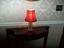 Buy WATERFORD CRYSTAL BEDROOM LAMP DIAMOND PATTERN 1940s/50s - $135 (saint petersburg)