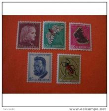 Buy Switzerland B227-231 MNH Portraits