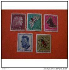 Buy Switzerland B227-231 MNH Portraits