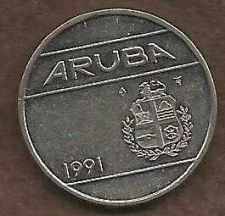Buy Aruba 25 Cents 1991 Coin (Kingdom of the Netherlands Coin)