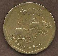 Buy Indonesia 100 Rupiah 1996 Coin Water Buffalo Racing