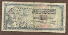 Buy YUGOSLAVIA 1000 DINARA 1978 Banknote BG 2011854