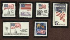 Buy US Stamps American Flag Theme Lot of 6 Mint MNH Stamps in Quality Mounts