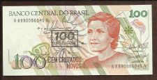 Buy BRAZIL 100 Cruzado Novos on 100 Cruzados 1992 UNC Note 8990086045A