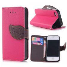 Buy Elegant litchi Grain Leather Folio Case Leaf Design Magnetic Snap And Card Slots