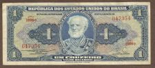 Buy BRAZIL 1 CRUZEIRO 1954-58 Banknote 047354 Naval ACADEMY Circulated