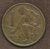 Buy Czechoslovakia 1 Koruna 1983 Coin Woman planting Linden tree