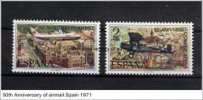 Buy Spain 1694-5 mnh Air Mail service