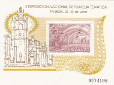 Buy Spain 1990 mnh Exfilna ´90 Stamp Expo Palencia