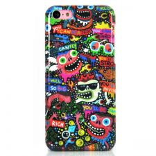 Buy Ugly Monster Pattern Snap-On Protective Plastic Hard Case Cover For iPhone 5C