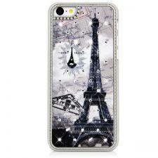 Buy Eiffel Tower Bling Diamond Plating Skinning Plastic Hard Case For iPhone 5C