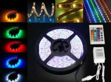 Buy Waterproof 15M 300x5050 SMD RGB LED Strip Light with Remote Controller and AC Ad