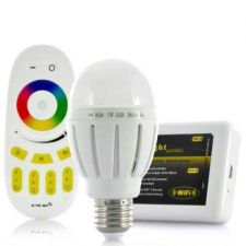 Buy Super saved Mi Light Remote Control 2x6W RGB LED Light Bulb with Wi-Fi Control Kit