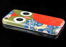 Buy Owl Pattern Snap-On PC Hard Case Cover For iPhone 5C - Olive Green