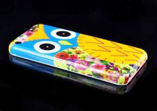 Buy Owl Pattern Snap-On PC Hard Case Cover For iPhone 5C - Blue