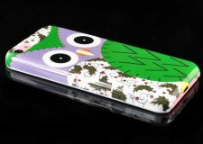 Buy Owl Pattern Snap-On PC Hard Case Cover For iPhone 5C - Purple