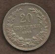 Buy Bulgaria 20 Stotinki 1912 Wreath Lion Crown Coin
