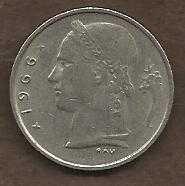 Buy 1966 Belgium 1 Franc Coin Belgique Crown Cornucopia