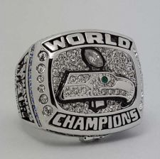 Buy 2013 Seattle Seahawks XLVIII NFL super bowl ring alloy ring replica size 11 US