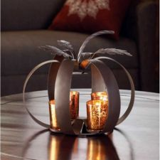 Buy Modern Pumpkin Tealight Candle Holder Fall Autumn Halloween Thanksgiving