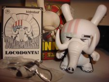 "Buy Kidrobot Dunny 3"" 2013 Side Show JPK Jon Paul Kaiser Locodonta Elephant Vinyl"