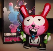 "Buy Kidrobot Dunny 3"" 2013 Evolved Kronk Money Wolf Cartoon 3/40 Greed"