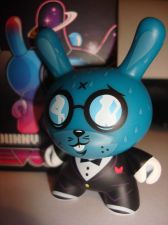 "Buy Kidrobot Dunny 3"" 2013 Evolved Kronk Shy Wolf Blue Vinyl Art Figure Designer Toy"