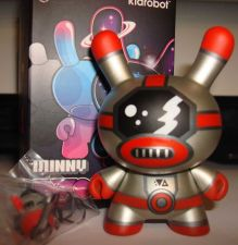 "Buy Kidrobot Dunny 3"" 2013 Evolved Kozik Spaceman Future Robot 2/20 Mecha Robot"