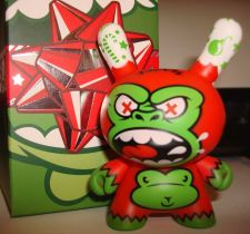 "Buy Kidrobot Dunny 3"" 2013 Mad Holidape Green Red Christmas Special Vinyl Art Figure"