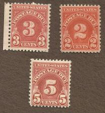 Buy US Stamps Postage Due Stamp lot MNH 2c, 3c, & 5c