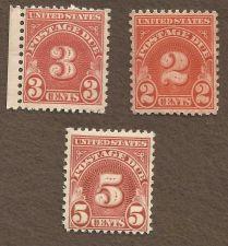 Buy US Stamps Postage Due Stamp lot MNH 2c, 3c, & 5c