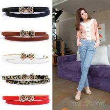 Buy Womens Leather Bowknot Waist Belt Lady Slim Waistband Girdle Strap 1 PC