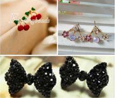 Buy Mixed 3 pairs. Hot Fashion Lady Girl's Rhinestone Earring