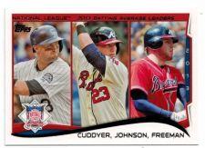 Buy 2014 Topps #237 Mike Cuddyer/Chris Johnson/Freddie Freeman LL