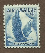 Buy US - 1954 - AIRMAIL STAMP - EAGLE in FLIGHT - 4c BLUE - SC# C48