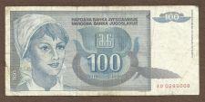 Buy Yugoslavia 100 Dinara - 1992 P-112 Banknote AD0285008