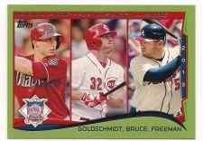 Buy 2014 Topps Green #143 Paul Goldschmidt/Jay Bruce/Freddie Freeman LL