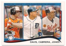 Buy 2014 Topps #153 Chris Davis/Miguel Cabrera/Adam Jones LL