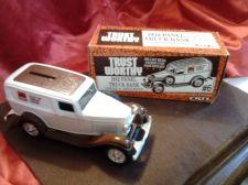 Buy Ertl 1932 Panel Truck Die Cast Metal Locking Coin Bank in Original Box !!