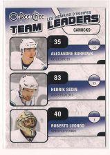 Buy 2010-11 O-Pee-Chee Team Leaders #TL29 Henrik Sedin/Roberto Luongo/Alexandre Burrows