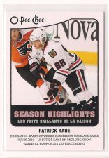 Buy 2010-11 O-Pee-Chee Season Highlights #SH15 Patrick Kane