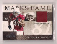 Buy 2008 Absolute Memorabilia Marks of Fame Materials #20 Anquan Boldin