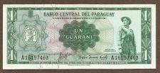 Buy Paraguay 1 Guarani 1952 Banknote A16157463 = printed1952-Withdrawn Circulation