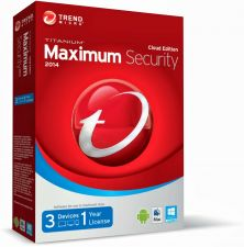 Buy 2014 TREND MICRO TITANIUM MAXIMUM SECURITY, 1 YEAR, 3 PC USERS, DOWNLOAD