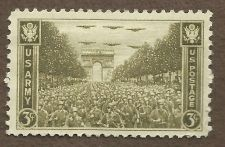 "Buy US 934 MNH 3 Cent ""Army"" Single Stamp - US ARMY ENTERING PARIS AUGUST 1944"""
