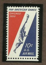 Buy US 10 CENT AIR MAIL STAMP, PAN AMERICAN GAMES CHICAGO 1959 MNH in Quality Mount