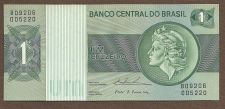 Buy Brazil 1 Cruzeiro ND 1980 Banknote 809206005220 Woman with Liberty Cap at Right