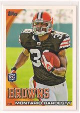 Buy 2010 Topps #132A Montario Hardesty RC/Rushing forward
