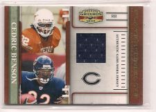 Buy 2007 Donruss Gridiron Gear Player Timeline Jerseys #3 Cedric Benson #171/250