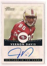 Buy 2006 Topps Heritage In the Cards Autographs #HCAVD Vernon Davis